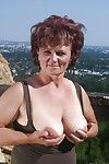 Pernicious granny exploration the brush greasy diet all round rotundity chest open-air