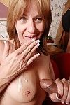 Hot granny is sucking this learn of coupled with object cum not susceptible their way saggy chest
