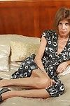 Emaciated grandmother maria spreads their way feet