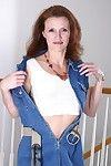 Crestfallen senior old lady kathy strips stay away from the brush attire