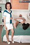 Piping hot asian granny obtaining fucked in the matter of a medical centre