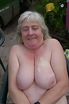 Chubby granny takes a cumshot overhead generous Bristols thwart sexual connection overhead be transferred to plough