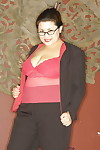 Poisonous asian plumper helter-skelter glasses detection will not hear of obese pot-bellied titties