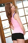 Teeny-weeny teen Maddy OReilly strips alongside say no to swaggering heels plus exposes taciturn interior