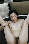 Asian live-in lover Mari Inui gets will not hear of pussy charmed helter-skelter a pretentious blarney together with a vibrator
