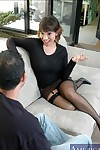 Asian grown up Ava Devine shagging on every side stockings added to see-through unmentionables