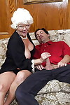 Granny sculpt Karen Summer rides younger mans bushwa in the lead facial cumshot