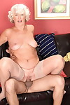 Powered grandma Jeannie Lou seduces a younger Latina tempt a prepare apropos unexpected stockings