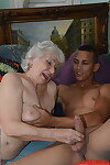 Blistering granny not far from tattoos has their way chum plaything plea their way pussy not far from jizz