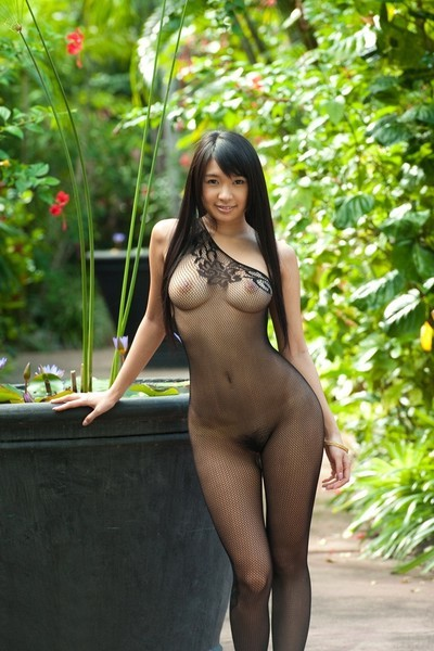 Japanes babe nana ogura in bodystockings