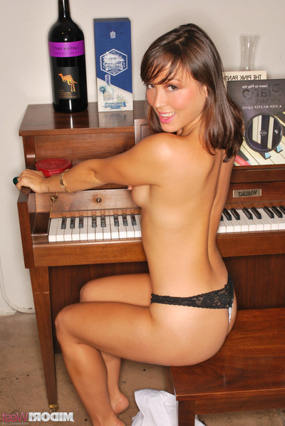 Midori west erotic dance by the piano