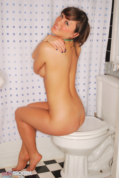 Midori west getting willing to shower-room