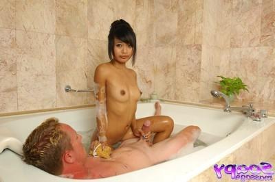 Soapy Japanese massage with hardcore