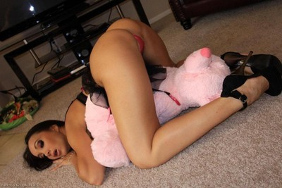 Katsuni purchases team-banged in her wild pink underclothes