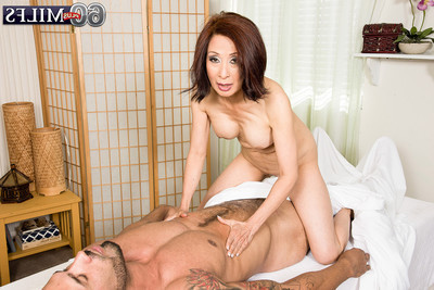 Appealing older kim anh taking in a tight heavy stick
