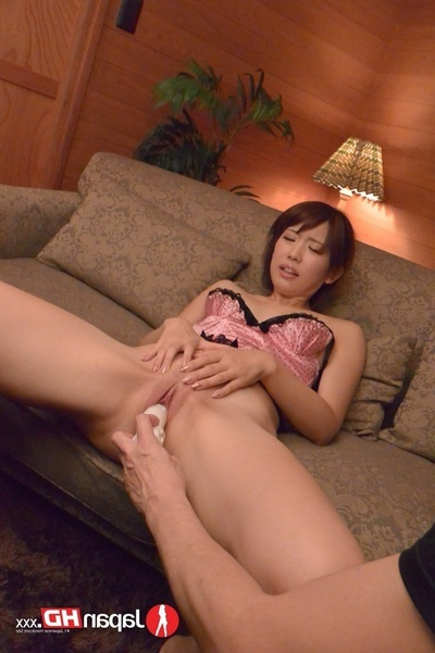 Beautiful Japanese Pretty Wearing Pink And Ebony Nighty Launches Her Legs On A Black Ottoman And Lets Some Stallions Finger And Control Her Uterus With A White Sex toy Prior to This girl Sucks Their Snakes And Purchases A Facial.