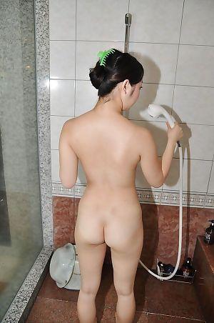 Smiley Chinese princess with frisky scoops Mina Terashima delightful bathroom