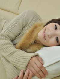 Extreme eastern MILF Chiaki Sugai benefits from her unshaved uterus vibed and takes her clothes off down
