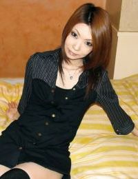 Japanese lollipop Nayu Kunii undressing and exposing her little twists
