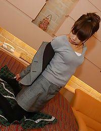 Eastern MILF Miyuki Takizawa erotic dance and exposing her soaking bushy wet crack