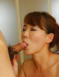 Lascivious Japanese MILF Kayo Mukai receives her unshaven uterus vibed and cocked up