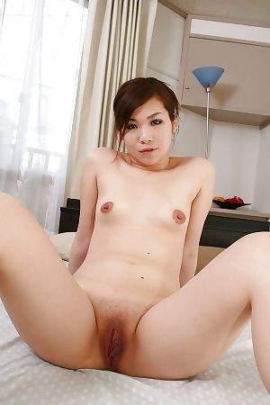 Oriental MILF with hairless snatch Satoko Suda playing with sextoy afterward bathroom - part 2