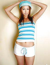 Appealing Japanese model with extraordinary milk sacks erotic dance off her clad