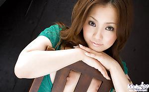 Terrific oriental queen on high heels Rika Aiuchi showcasing her gigantic breasts - part 2
