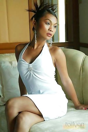 Tremendous thai beauty tailynn looking gorgeous in a hot white costume - part 5866