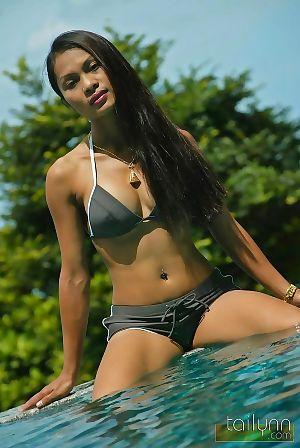 Thai mature exhibit tailynn posing sensually by the pool - part 24