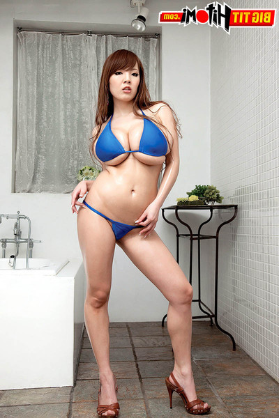 Oriental hitomi tanaka soaps and showers her hot bod and rough pantoons