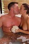 Kaci star making erotic massage with cum flow