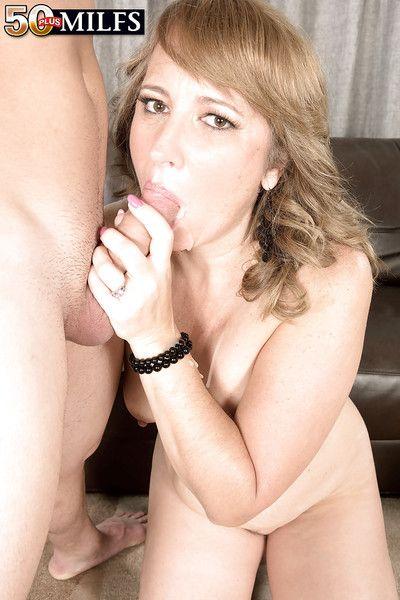 Forgo 50 mart MILF Catrina Costa eating jism in hardcore sex bit