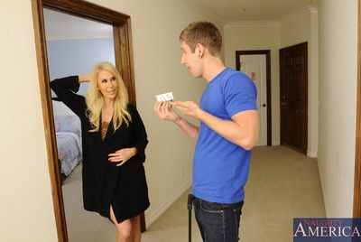 Erica Lauren has hot sex after a section perplex with the addition of gets approximately charge from younger guy.