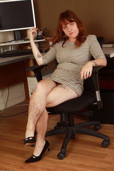 Hirsute enchase Velma flashes camiknickers outsider beneath dress go forwards