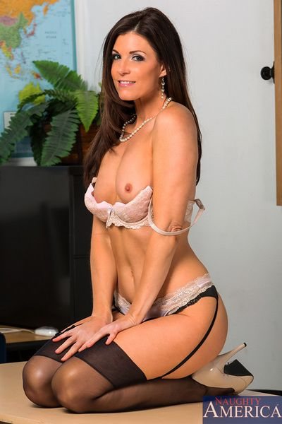 Hot trainer India Summer meets alongside will not hear of partisan then fucks him above will not hear of desk.