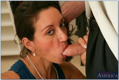 Big titted mature Persia Monir gets her shafting pussy banged fast