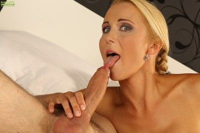 Fabulous fair-haired milf anesa chance is horny painless fuck, coupled with at this very moment she has will not hear of fuck t