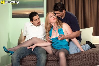 Its Heathers First Time, Together with Shes Shagging Three Cocks!