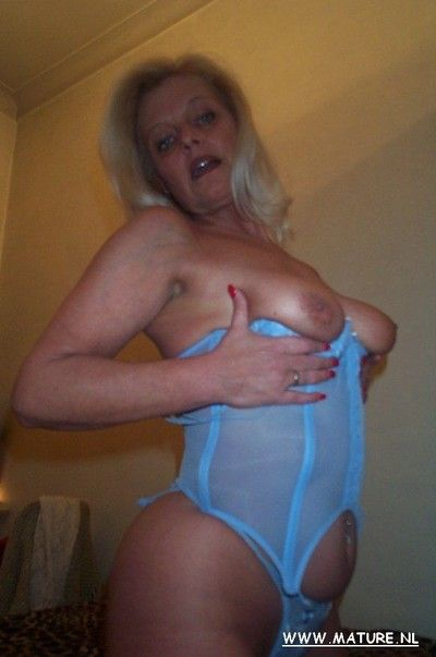 Downcast adult in morose lingerie