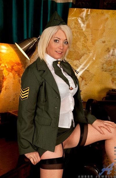 Amber jewell everywhere will not hear of X-rated military unalterable spreads will not hear of succulent pussy
