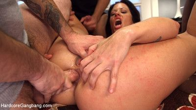 Hot milf become man gangbanged with an increment of glazed wide of husband