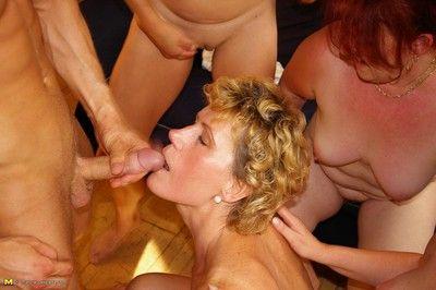 Roasting adult sluts sharing one hard cock