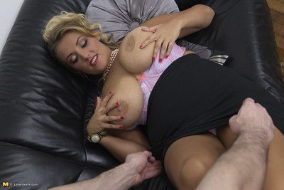 Tall breasted mom does rolling in money in pov style