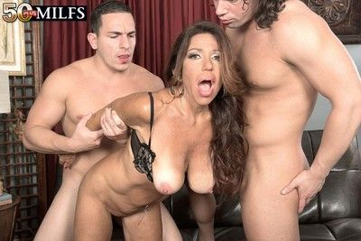 Horny milf layla lamora having two swayed cocks involving drag inflate plus leman