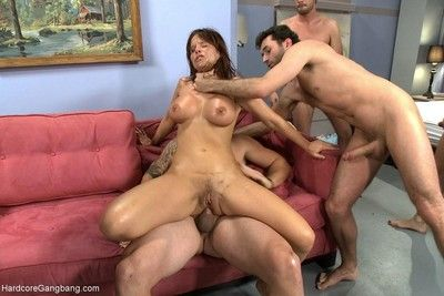 Hot milf teacher to giant knockers gangbanged wits students
