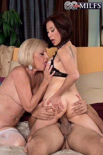 Bloke banging one horny slutty grannies