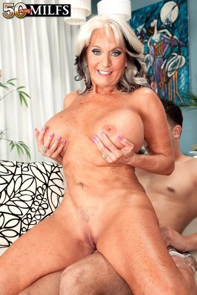 Big boobed grown-up sally d