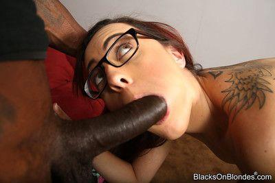 Roxanne rae enjoys interracial anal-pounding