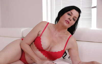 Busty non denuded depart from 40 mature brunette wide underwear jerking load of shit